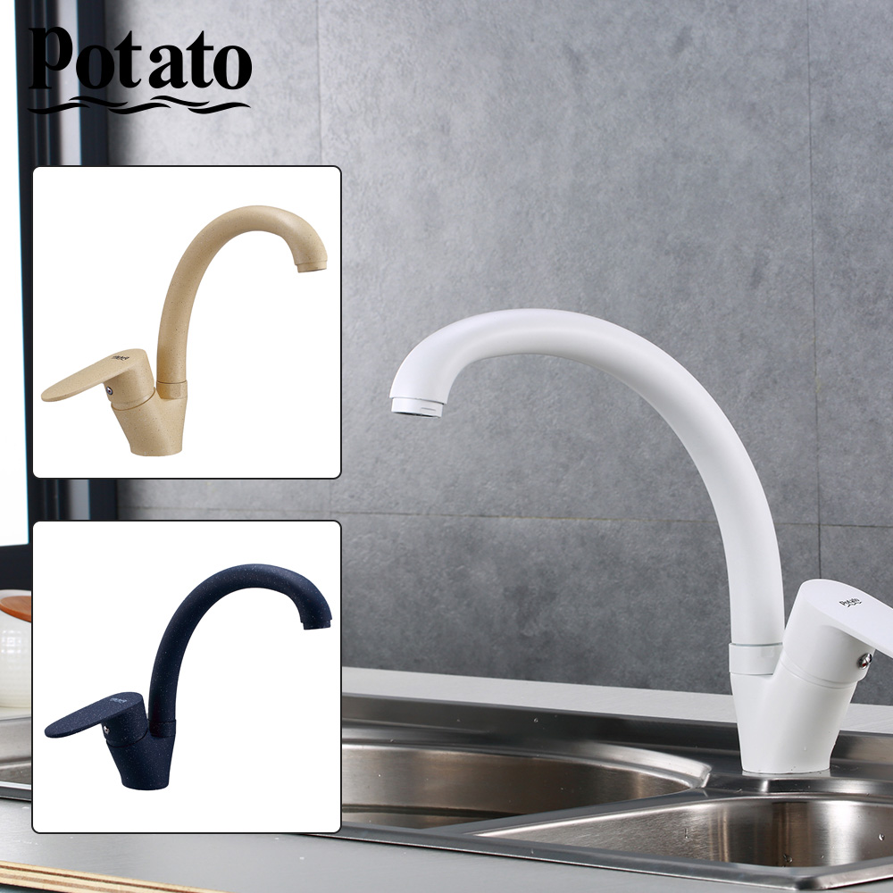 Potato Sink Kitchen Faucet Mixer Cold And Hot Single Handle Kitchen Swivel Spout Kitchen Water Sink Mixer Tap Faucets P41200-