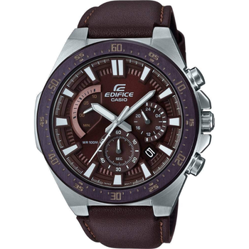 Casio Original Men Watches Leather Fashion Top Brand Luxury 100m Waterproof Quartz Technology Men Edifice Casual Watch EFR-563BL men watches eyki brand luxury waterproof genuine leather quartz watch classic independent seconds fashion casual watches hodinky