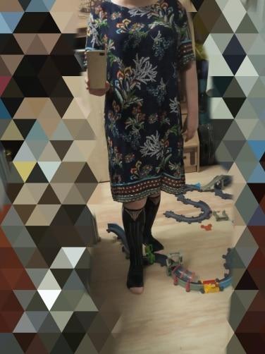 Plus Size Tribal And Botanical Print Boho Dress Women Summer Tunic Short Sleeve Straight Shift Geometric Midi Dresses photo review
