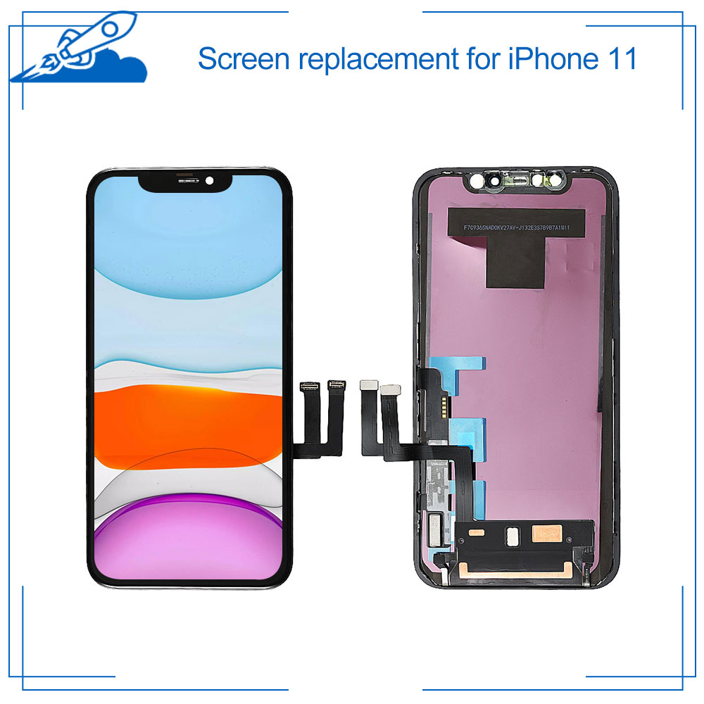 Grade AAA+++ For IPhone 11 Retina LCD Display With 3D Touch Screen Digitizer Assembly Replacement For IPhone11 Parts With Gift