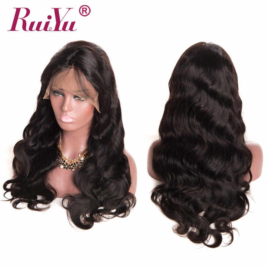 Las pelucas del pelo humano del frente del cordón de la onda del cuerpo brasileño se pueden personalizar en una peluca por paquetes de cabello humano con Frontal cierre RUIYU