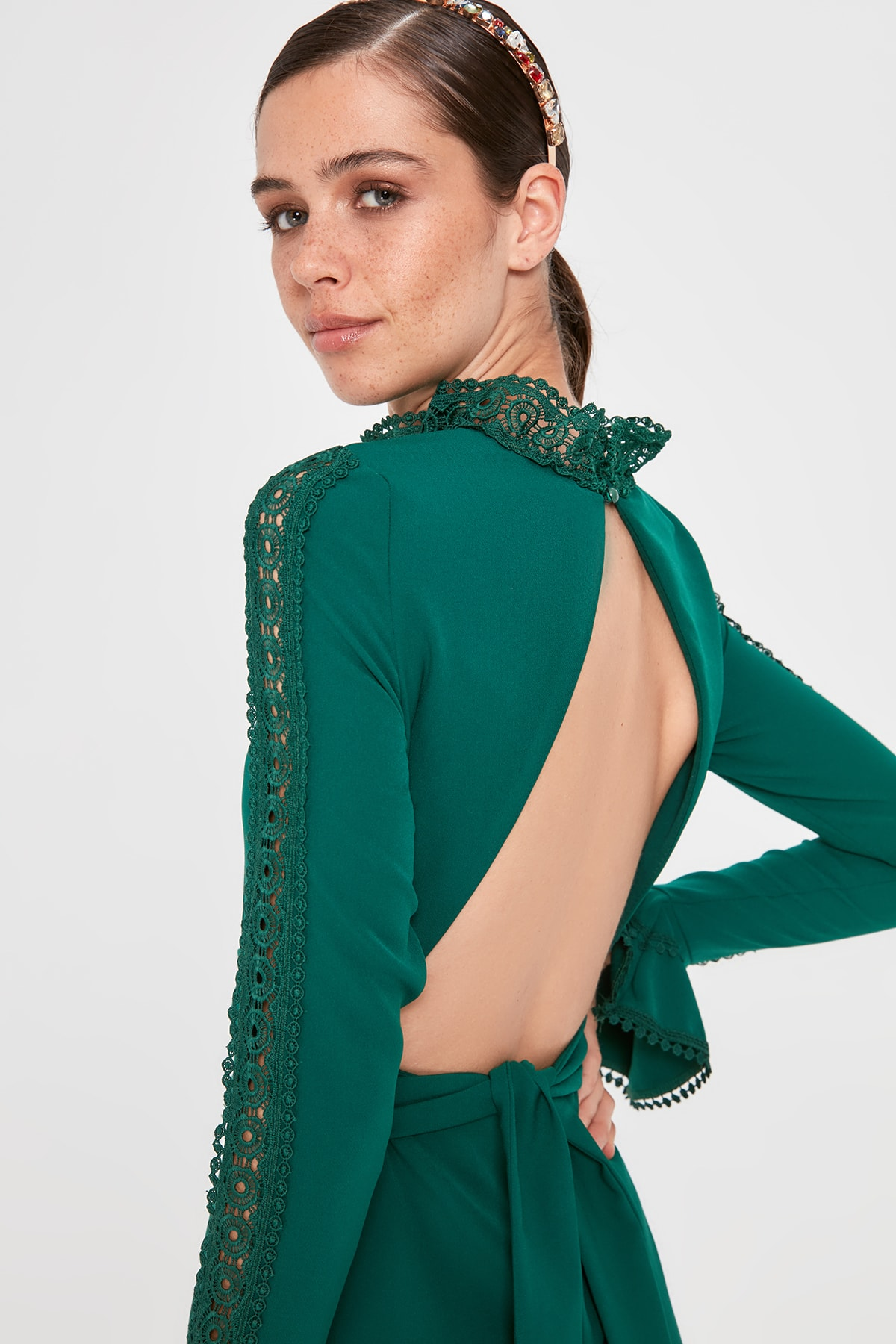 Trendyol Handle Applique Detail Dress TPRAW20EL1541
