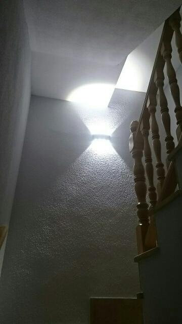 Luminárias de parede externas Interior Parede Alumínio