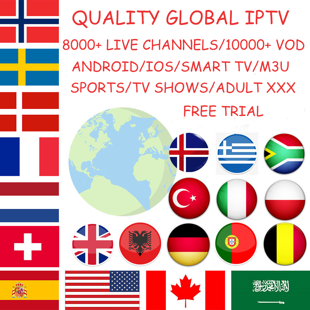Iptv Subscription/4K HD/free Trial/global Sports/ADULT/FRENCH/UK/US/PORTUGAL/SPAIN/TURKISH/M3U/PC/SMART TV/ANDROID/IOS/PAD/MAG/