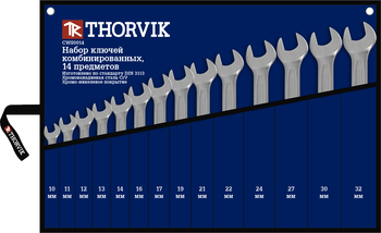Set of wrench keys combined in a bag, 10-32mm, 14 items thorvik cws0014 a set of pans cmh усадьба 1 6 items
