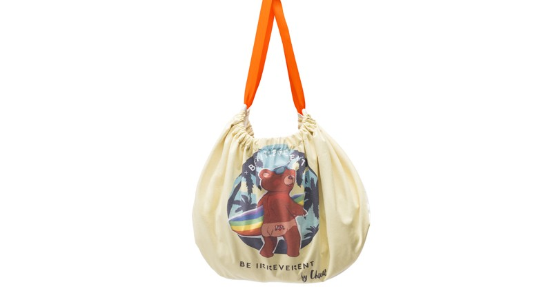 Made Handbag Towel Children And Girls Toddler BE2 Models Special Edition Chusac Kids, Includes Cosmetic Bag In PVC And Hook-Manufactured In Spain