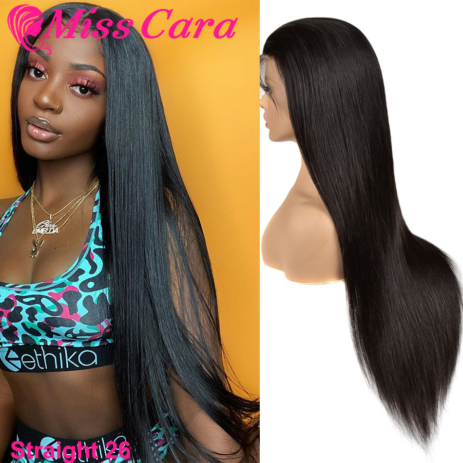360 Lace Frontal Wig Pre Plucked With Baby Hair Malaysian Straight Hair For Women Miss Cara Remy Human Hair Lace Front Wig