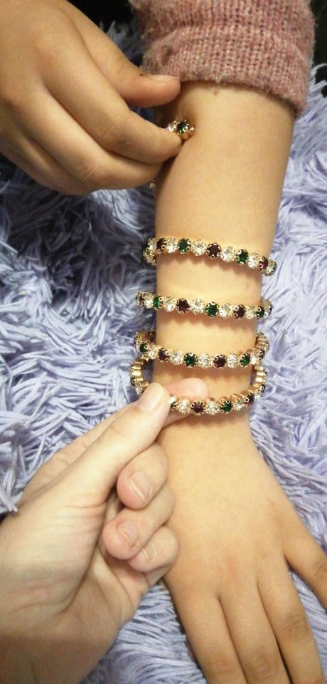 exaggerated Crystal Red white green Bracelets Women Rhinestone Bracelet Wedding Bracelet Pulseras Mujer Wedding Jewelry Gifts