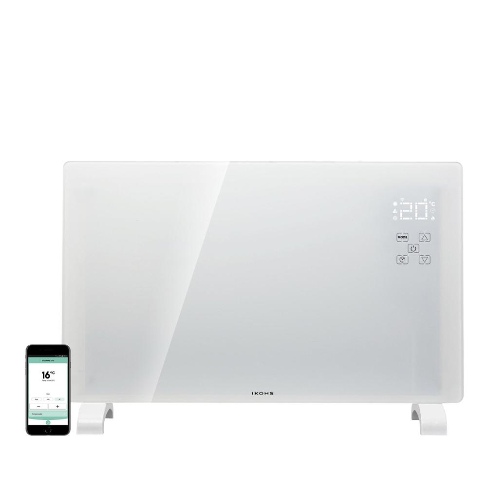 Ikohs EVERWARM GPH1500 Radiant Crystal Convector White And Black