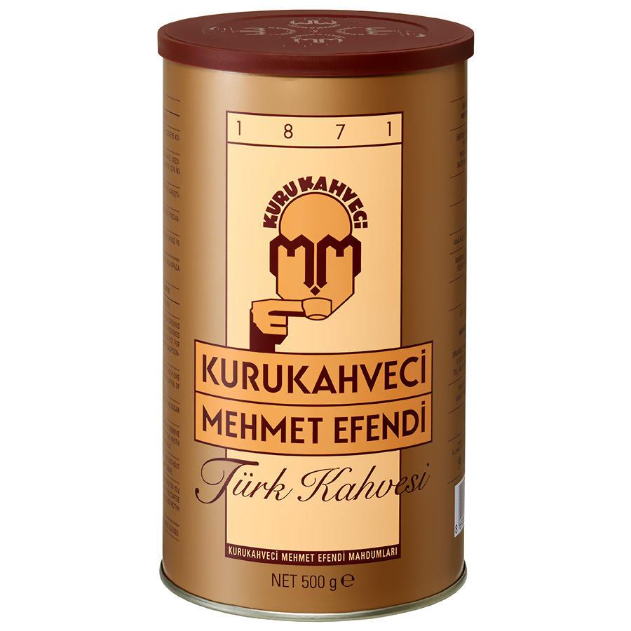 Turkish coffee Traditional Kurukahveci Mehmet Efendi ground coffee 250g/500g Tin box Medium Roast Fine Ground Coffee()