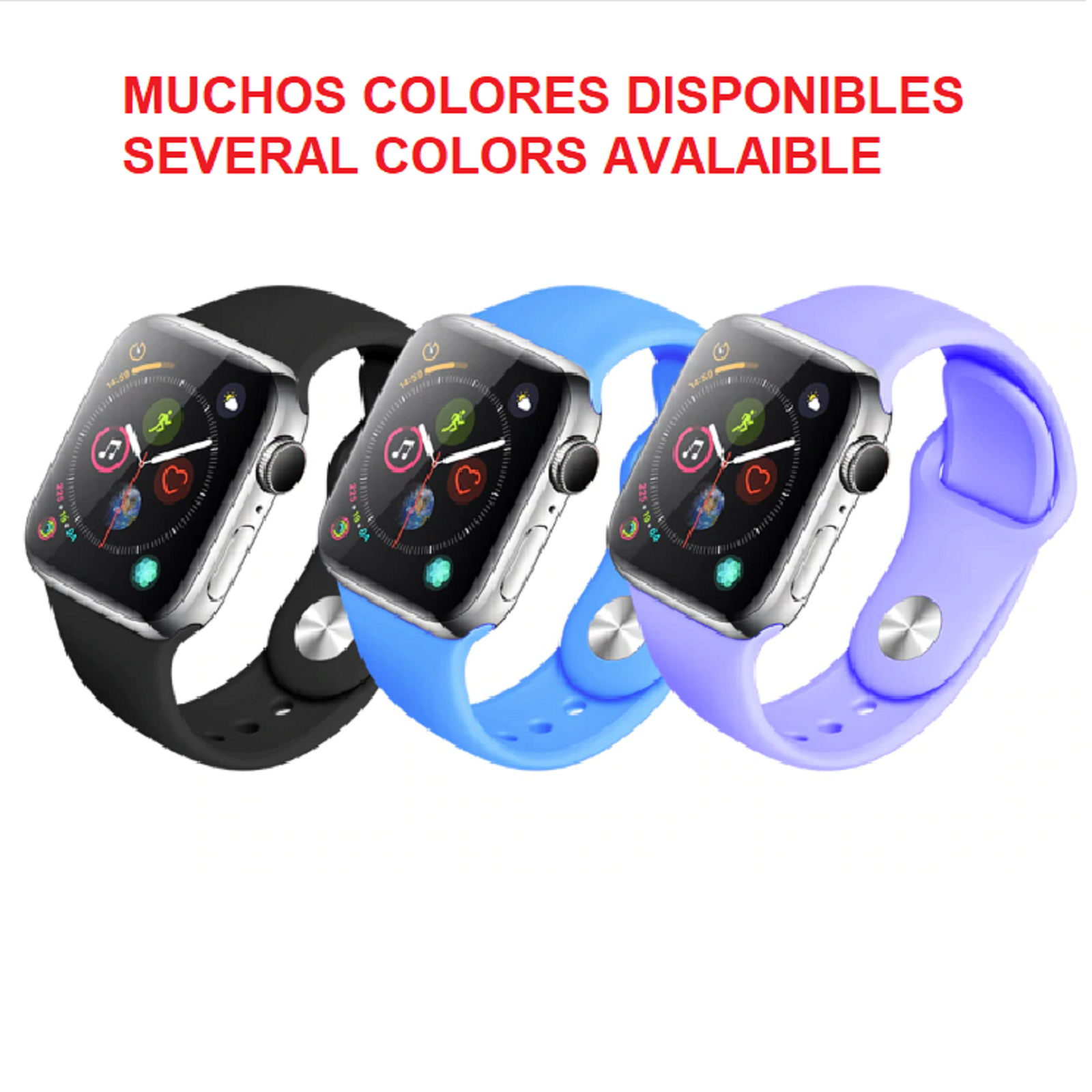 Pulsera Silicona De Recambio COMPATIBLE Con Apple Watch 1 2 3
