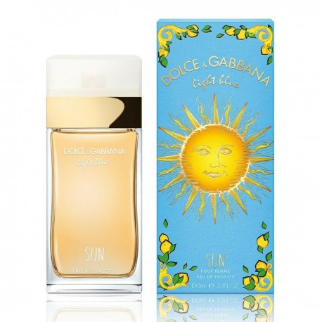 DOLCE GABBANA LIGHT BLUE SUN AND POUR FEMME EDT 100ML SPRAY