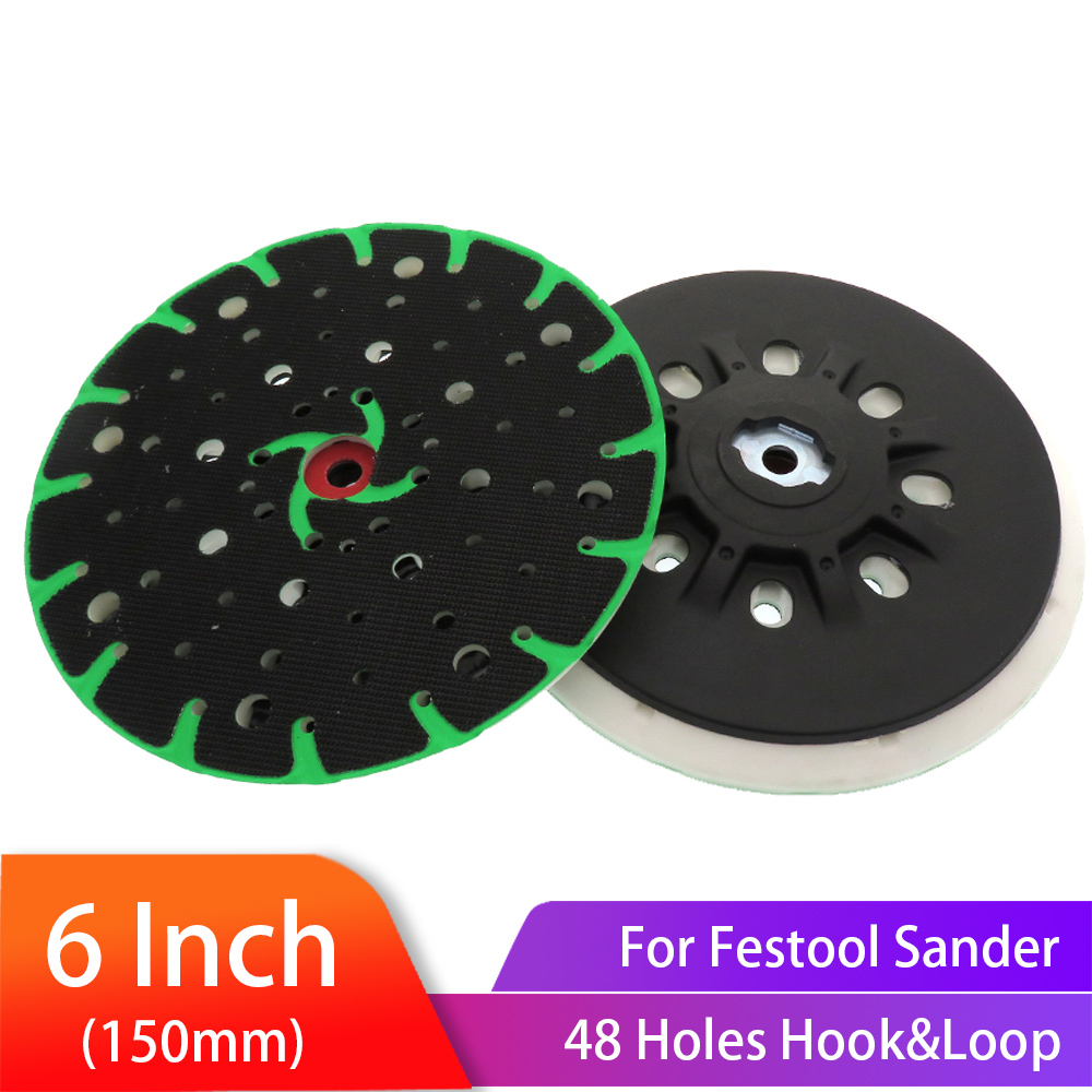 6 Inch(150mm) 48-Hole Dust-Free Hard Back-up Sanding Pad Soft Grinding Pad For 6
