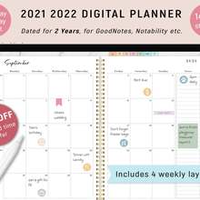 Planner DATED Daily Digital Notability iPad Goodnotes