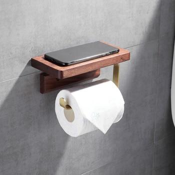 Porte Papier Toilette en Bois