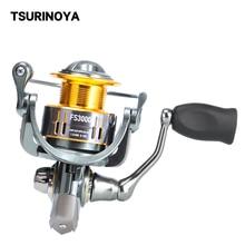 TSURINOYA Fishing Reel FS 800 1000 2000 3000 5.2:1 9+1BB Trout Freshwater Saltwater Spinning Fishing Lure Reel