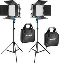 Neewer metal bi-color led luz de vídeo para youtube, fotografia do produto, fotografia de vídeo, quadro de metal durável, pode ser escurecido 660 grânulos