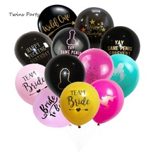Twins Party 10Pcs Mr and Mrs Decorations Hen Latex Balloons Team Bride Bachelorette Supplies  Wedding Decor