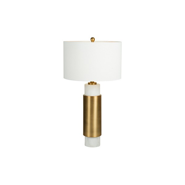Desk Lamp White Cylinder (40 X 76 X 40 Cm)