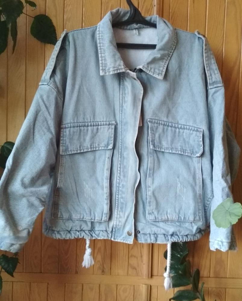 Winter Warm Lamb Coat Big Pocket Denim Jacket For Women Thick Large Fur Loose Parka Plus Size Denim Parka For Winter