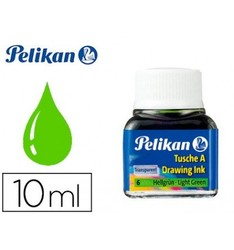 CHINESE INK PELIKAN LIGHT GREEN N6 FLASK 10 ML 10 Pcs