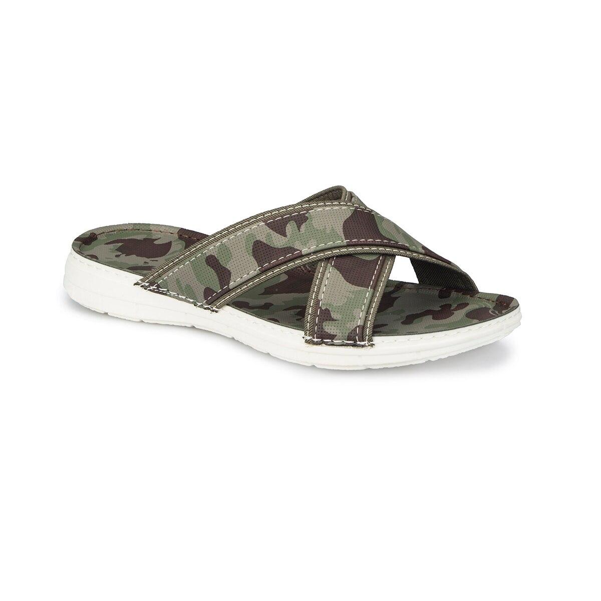FLO 81.452293.M Green Male Slippers Polaris