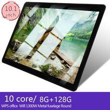 Kt107 tablet android 10.1 polegada tablet mais barato 8.10 versão android grande-tela com 8gb + 128gb comprimidos não caro plugue da ue