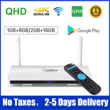 Hd completo leadcool android 9.0 caixa de tv inteligente amlogic s905w quad core 8g 16g media player tv caixa leadcool decodificador conjunto caixa superior