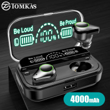 TWS Wireless Bluetooth Earphone Fingerprint Touch Stereo Headsets Sport Bluetooth Headphones With 4000mAh Waterproof Earphones(China)