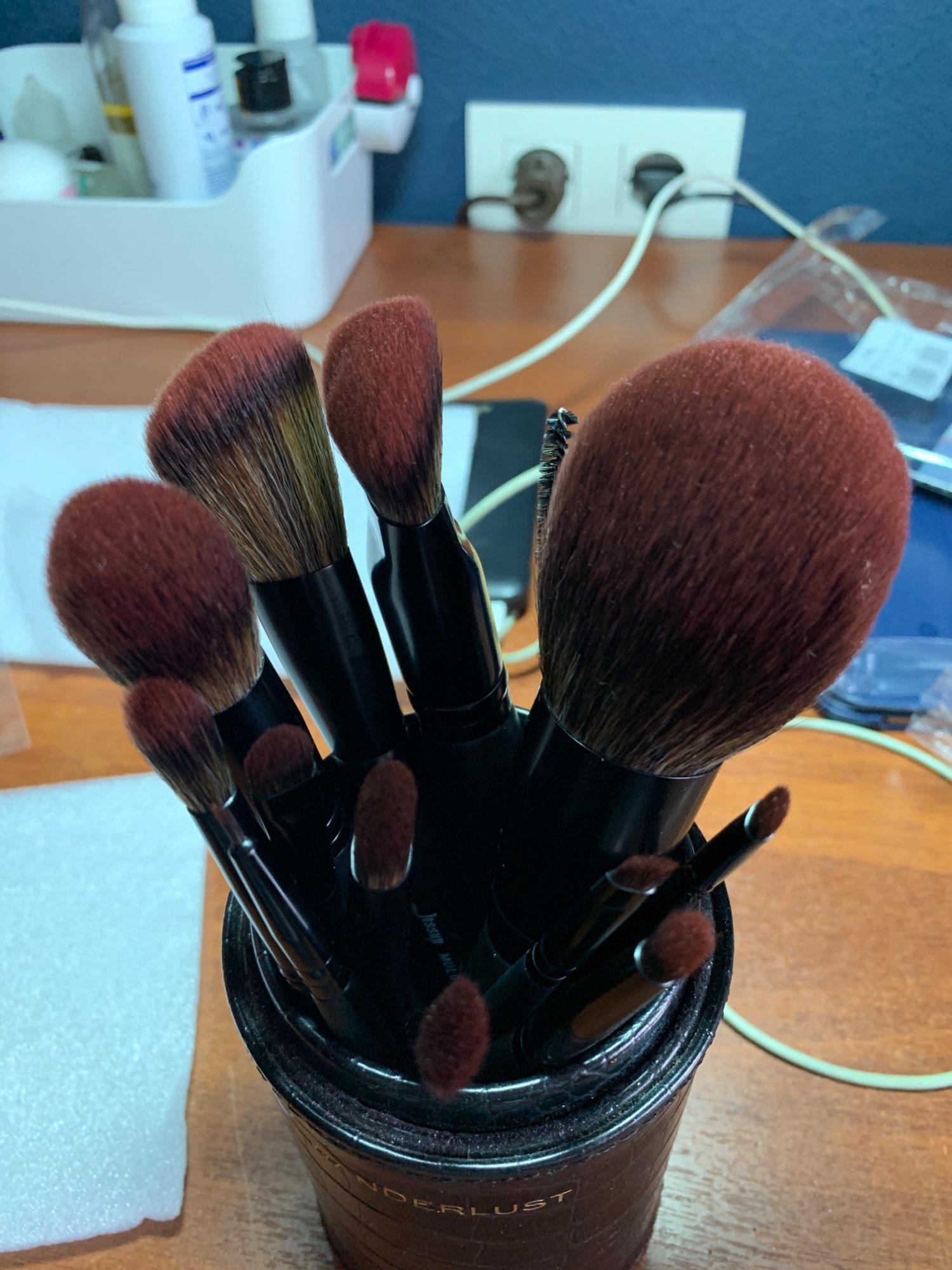 Jessup New Arrival Makeup brushes brushes Phantom Black 3-21pcs Foundation brush Powder Concealer Eyeshadow Synthetic hair reviews №1 337676