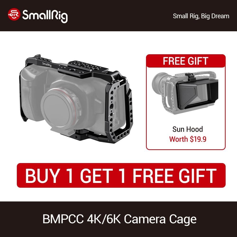 Smallrig For Bmpcc 4k Dslr Camera Cage For Blackmagic Design Pocket Cinema Camera 4k Video Shooting Protective Cage Newest 2203 Camera Cage Aliexpress