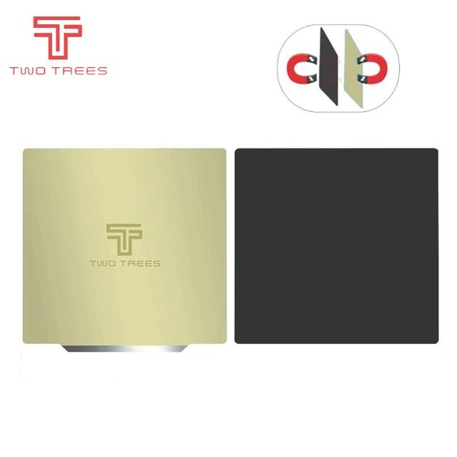 Autocollant magnétique flexible pour imprimantes 3D, feuille dacier à ressort, 220x220, 235x235, 310x310mm, lit chauffant saphir