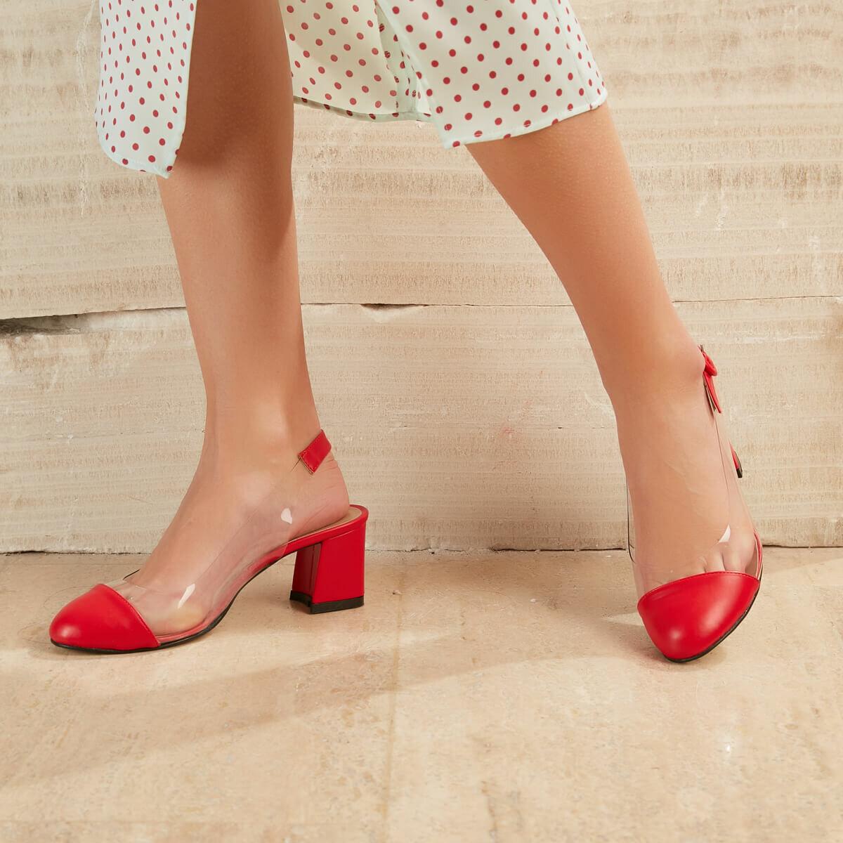 FLO Women Heeled Shoes Red Fashion Ladies Heels Dress Light High Classic Heels Shoes Туфли на высоком каблуке OLIVER33Z CILT BUTIGO
