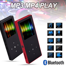 Bluetooth Touch Screen MP4 Player Bulit-in Speaker With FM Radio/Recording Portable Slim Lossless Video Music Player(China)