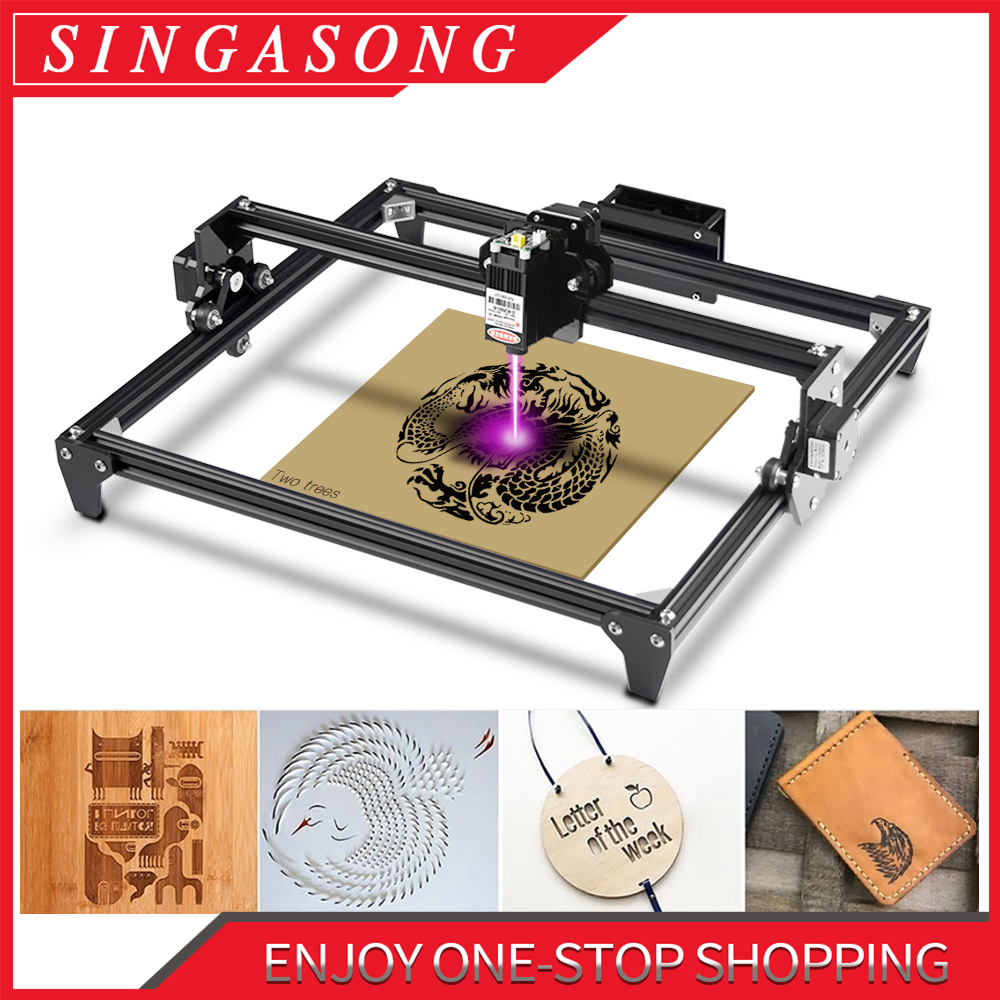 Máquina de grabado láser CNC de 5500W, 30x40cm, 2 ejes, enrutador/cortador/impresora + gafas láser para escritorio DIY
