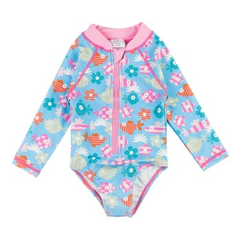 Stroje kąpielowe dla dzieci z długim rękawem UPF 50 + słodkie nadruki stroje kąpielowe stroje kąpielowe dla niemowląt tanie i dobre opinie Wishere CN (pochodzenie) Pasuje prawda na wymiar weź swój normalny rozmiar Dziewczyny NYLON Drukuj B3S014_DUOYU Elastane