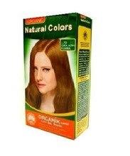 Натуральные цвета 7D золотой Средний Auburn органический краситель для волос 312590277
