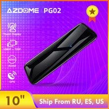 """AZDOME PG02 1"""" зеркальный сенсорный видеорегистратор для потоковой передачи данных ADAS двойной объектив камера заднего вида ночное видение 1080P Автомобильный рекордер для Uber"""