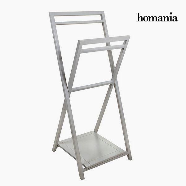 Free-Standing Towel Rack Acacia Grey By Homania