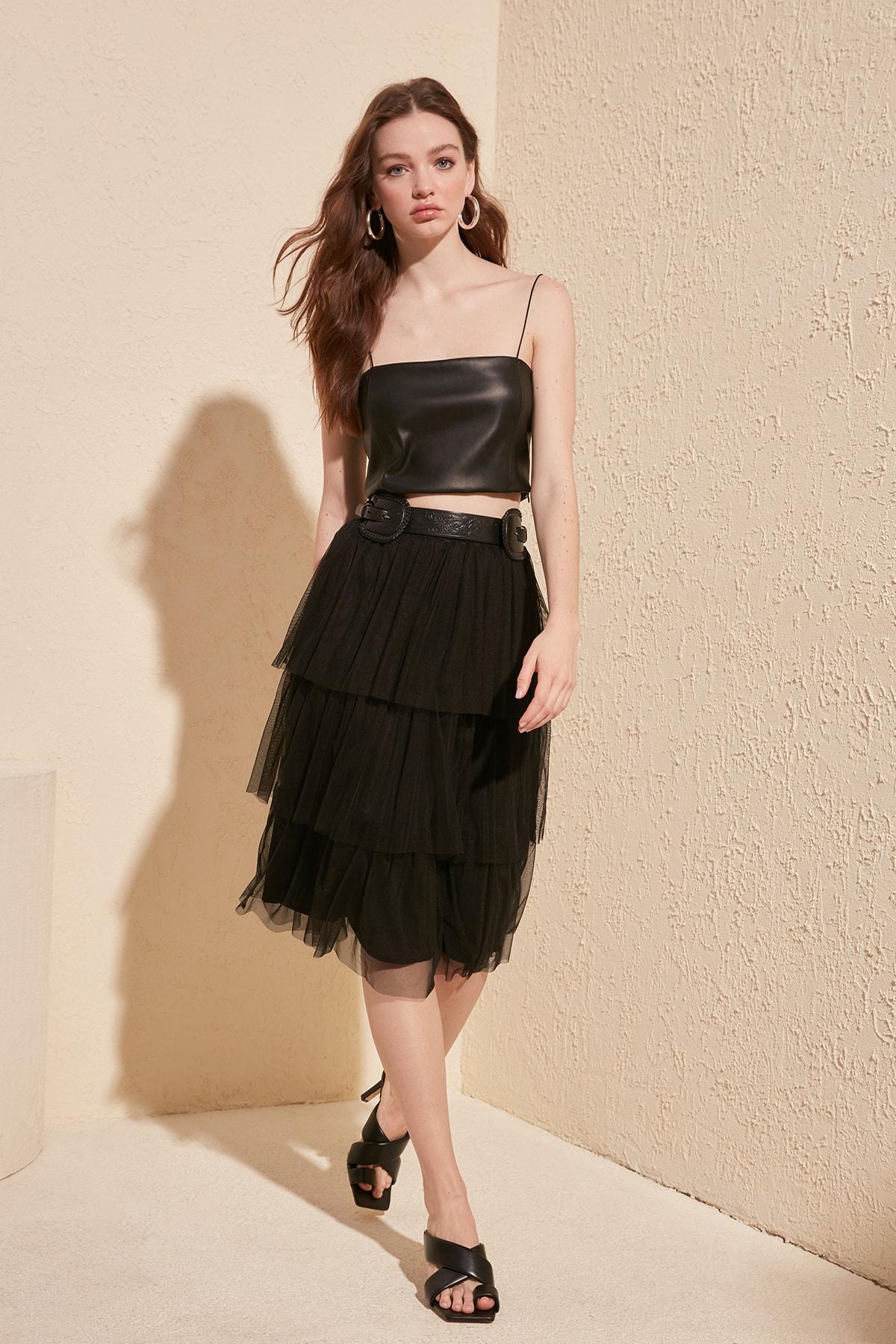 Trendyol Gauze Knitted Skirt TWOSS20ET0054