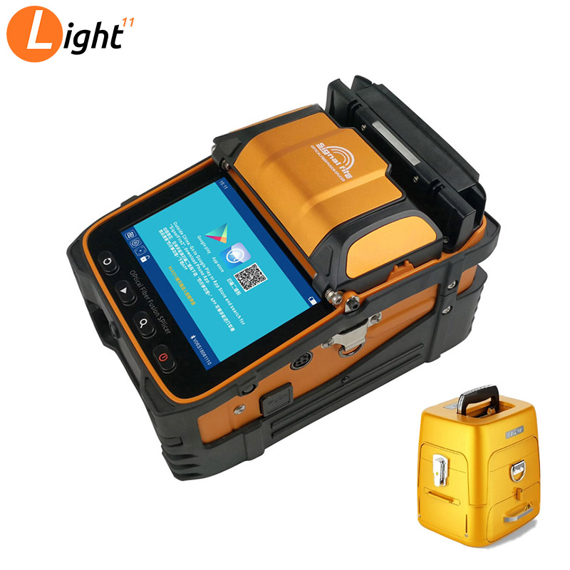 AI-9 Multi-language Intelligent  FTTH Six Motors Arc Signal Fire Ai-9 Fiber Optic Fusion Splicer With OPM VFL GIFT VFL