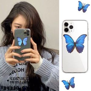 Image 5 - Cute Blue Butterflies Clear Phone Case for iPhone  11 Pro Max Xs XR  X 6 6s7 8 Plus Case soft tpu back cover case