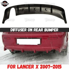 Diffuser Body-Kit-Accessories Rear-Bumper Lancer Mitsubishi ABS for Car-Tuning-Styling