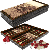 Board Game Artwork Istanbul Yenikoy Waterside Pearlescent Wooden Backgammon Checkers Chessboard Set Entertainment Gift Travel