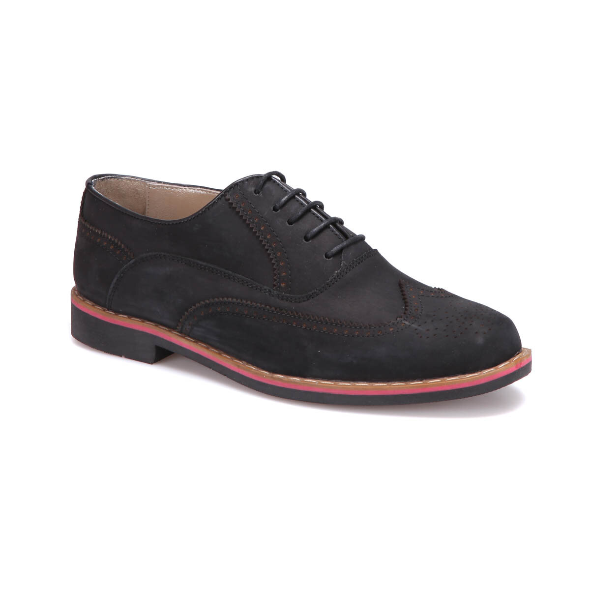 FLO PRG-6 M 6683 Black Male Modern Shoes Garamond