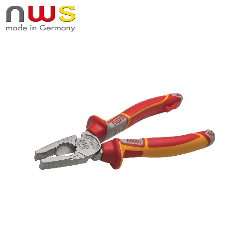 NWS Pliers dielectric CombiMax 1000V VDE 205 mm, Crom coating, SoftGripp 3K handles Multifunctional pliers Diagonal rolling nws combimax 109 69 205