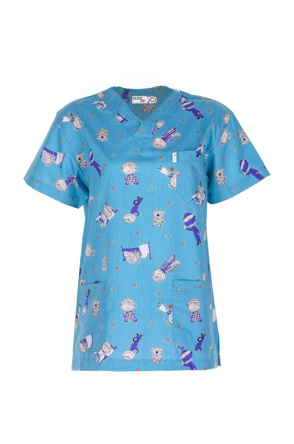 PATTERNED SCRUB TOPS