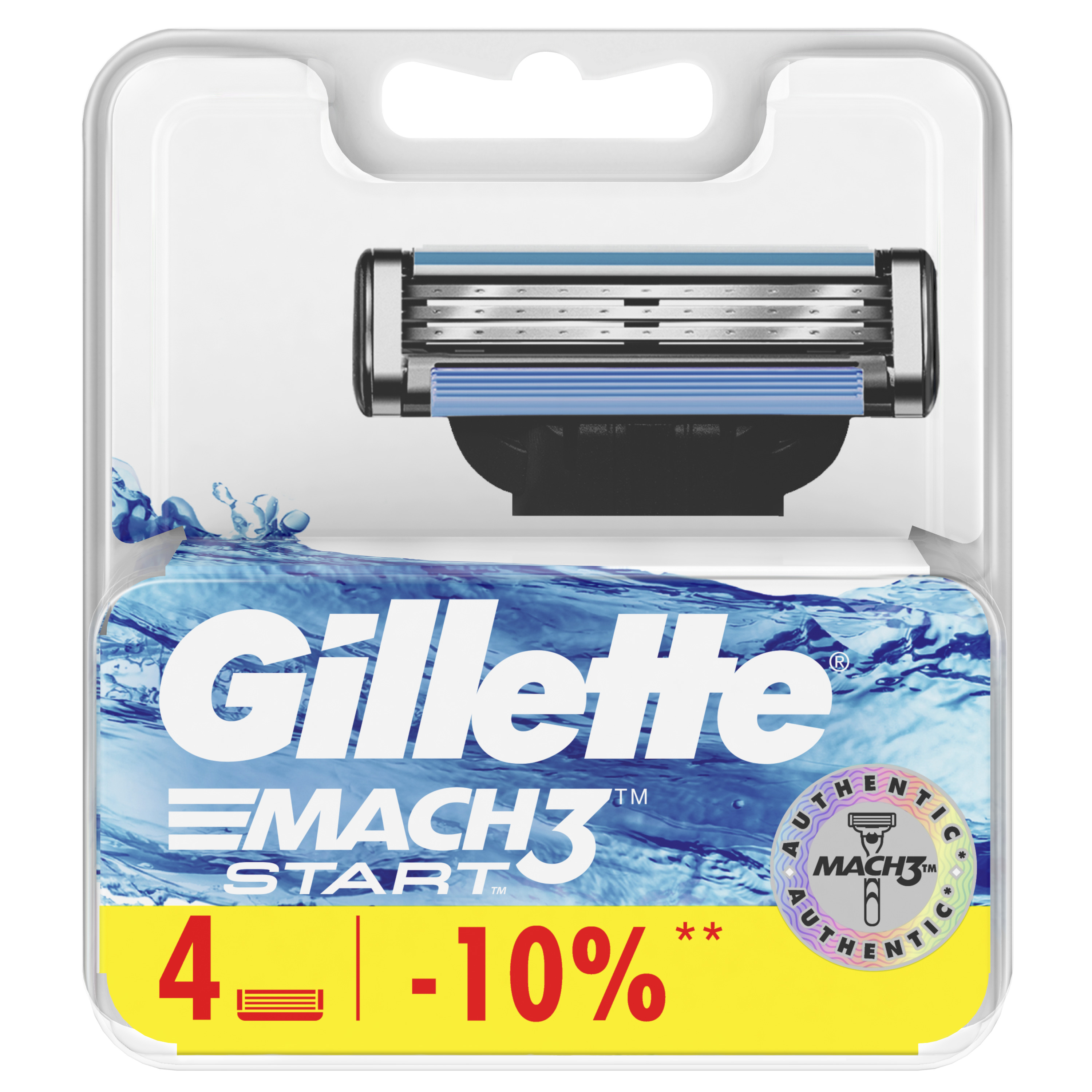 Replaceable cartridges of Gillette Mach3 Start of 4 pieces. baby set of 4 pieces cotton box baby set of 4 pieces