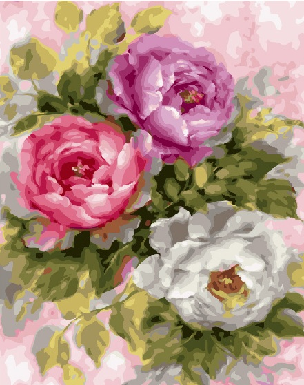 Painting By Numbers GX 25869 Three Roses 40*50