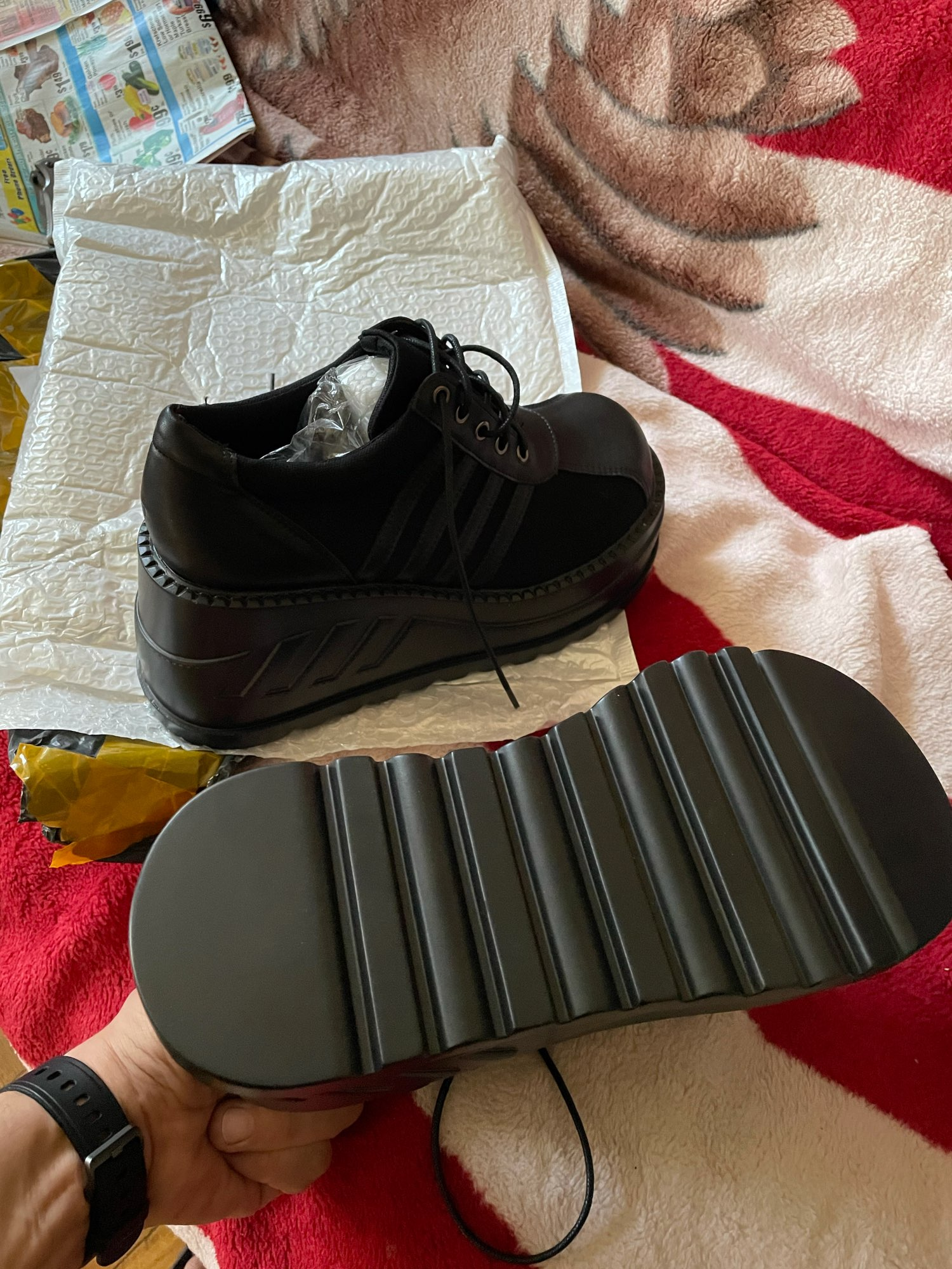 Wedge Platform Chunky Boots photo review